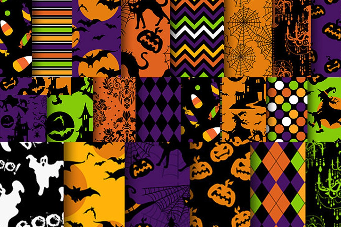 Halloween Clipart bundle 82 elements Eps and PNG example image 6