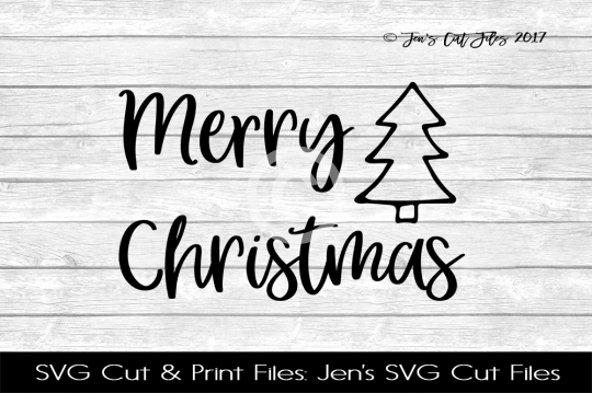 Merry Christmas SVG Cut File example image 1