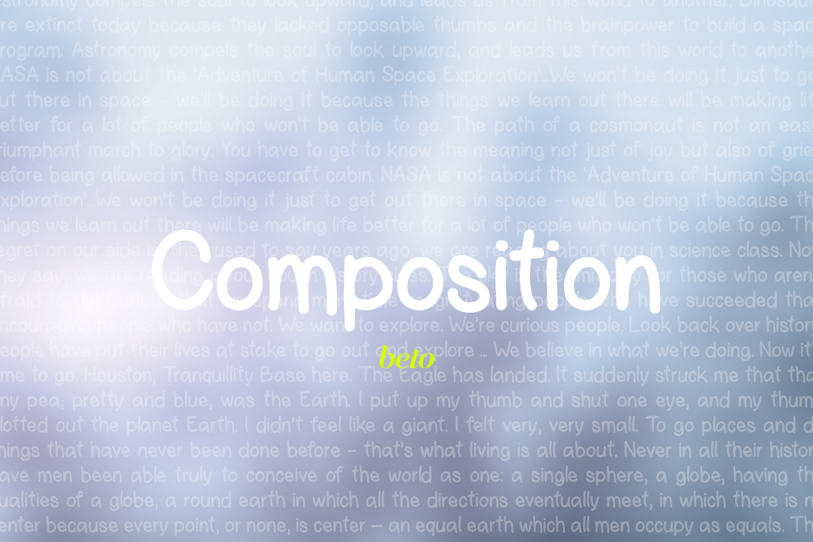 Composition Font  example image 4
