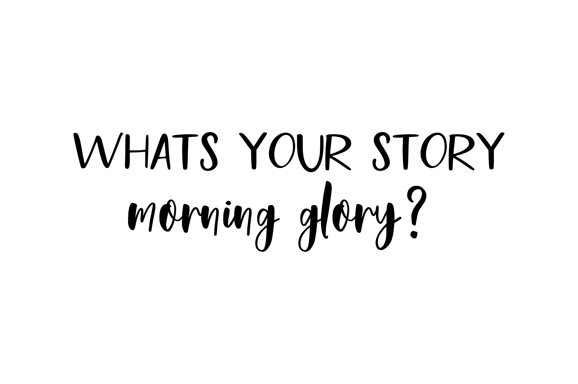 Morning Glory Font Duo example image 2