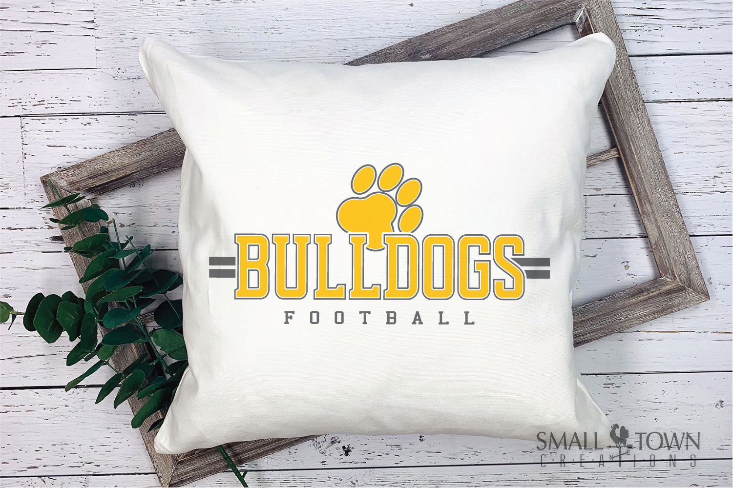 Bulldog Football, Paw Print, Team, PRINT, CUT & DESIGN example image 3