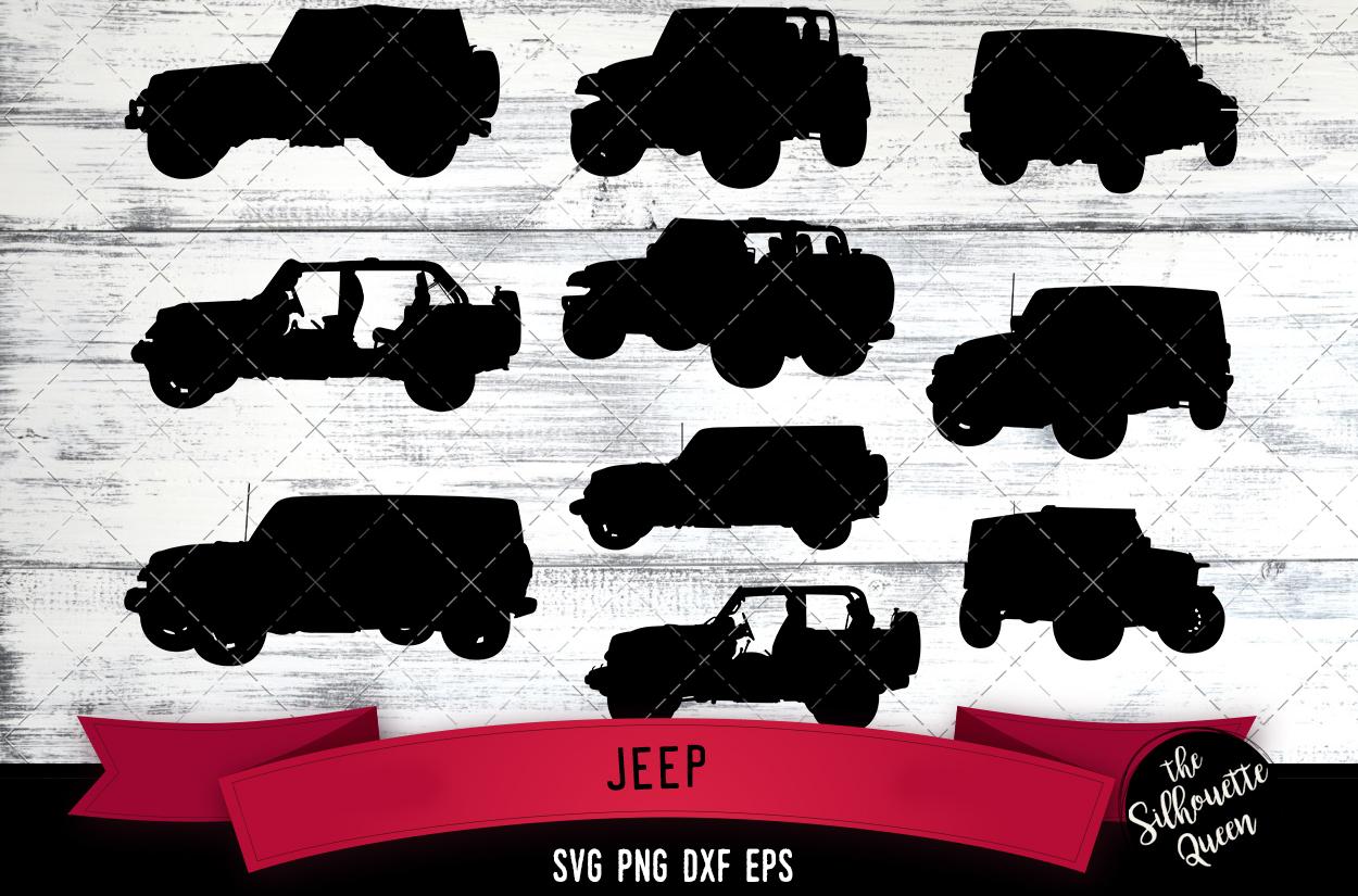 Jeep svg file, auto svg cut file, silhouette studio example image 1