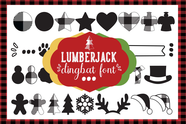 Lumberjack dingbat font, Combinable Christmas elements example image 1