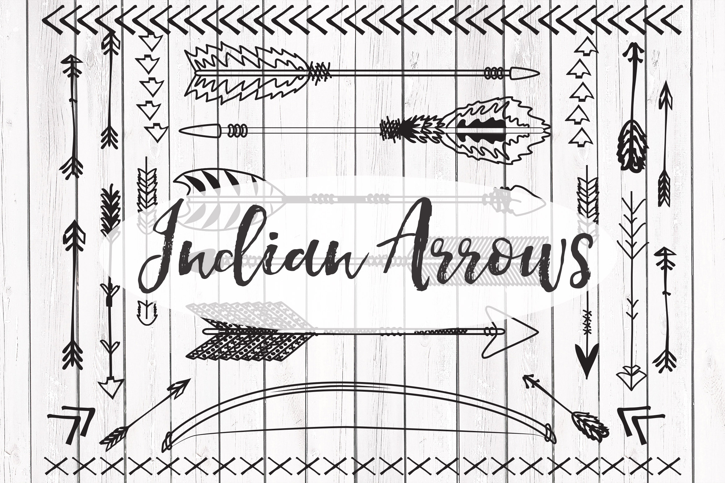 Vector Indian arrows clipart example image 1
