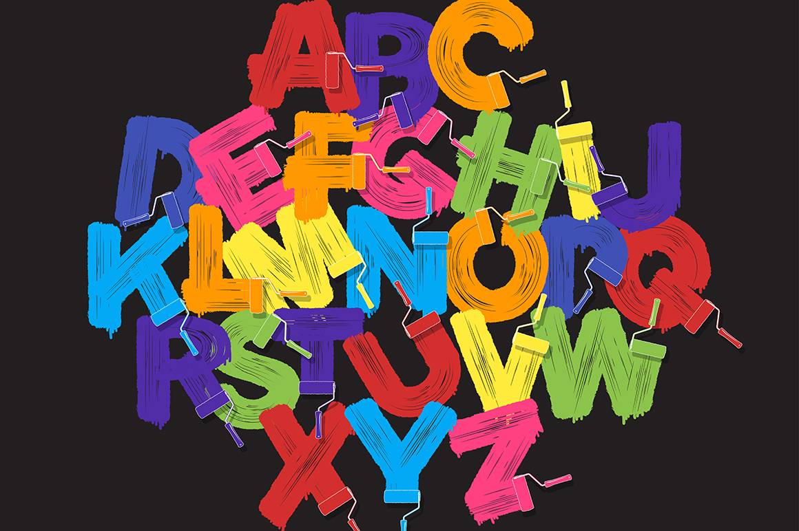 Roller brush letters example image 10