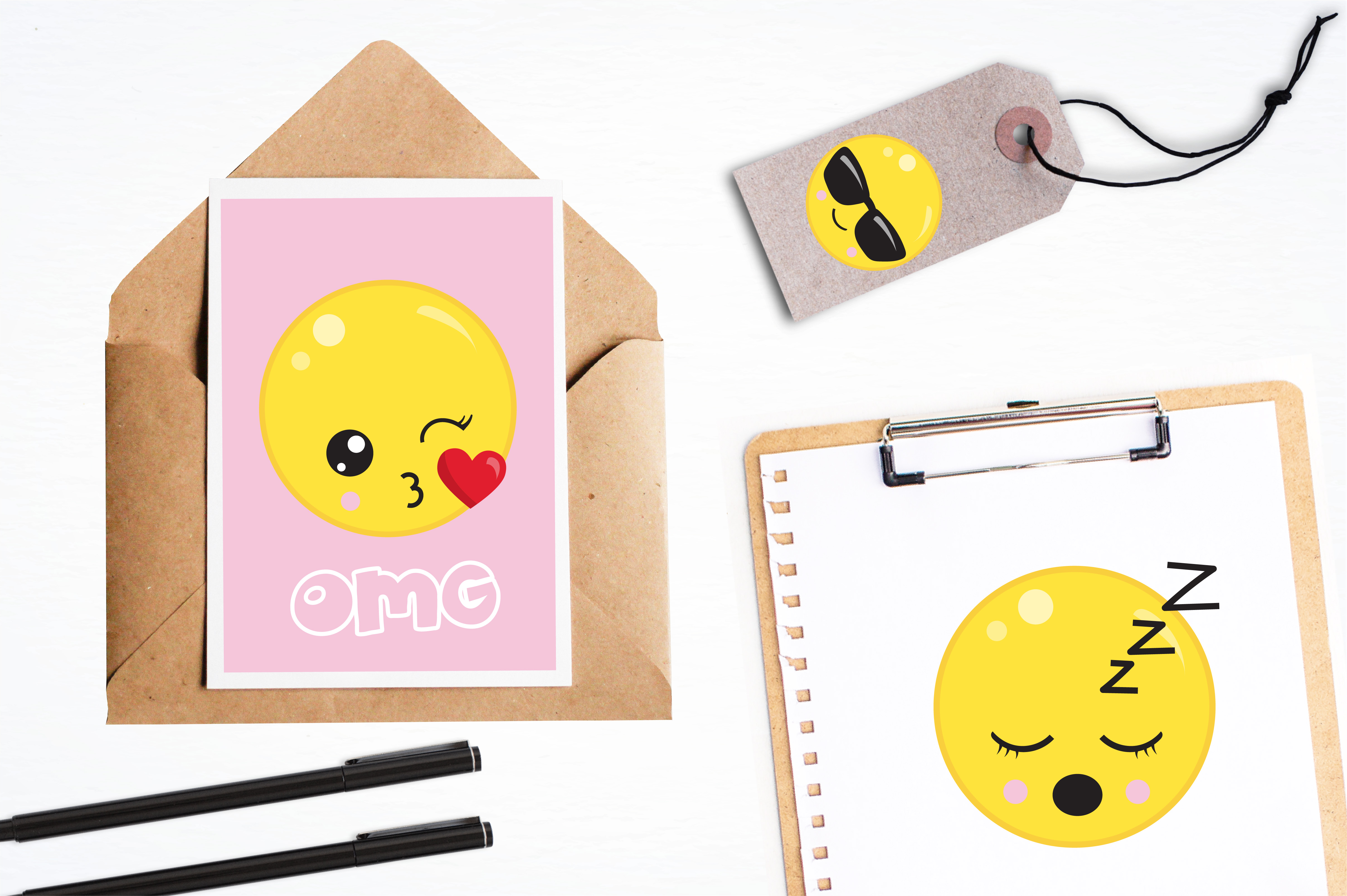 Cute emoji graphics and illustrations example image 4