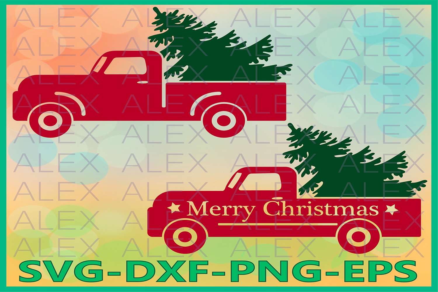 Christmas Truck SVG, Merry Christmas SVG, Tree Truck svg example image 1