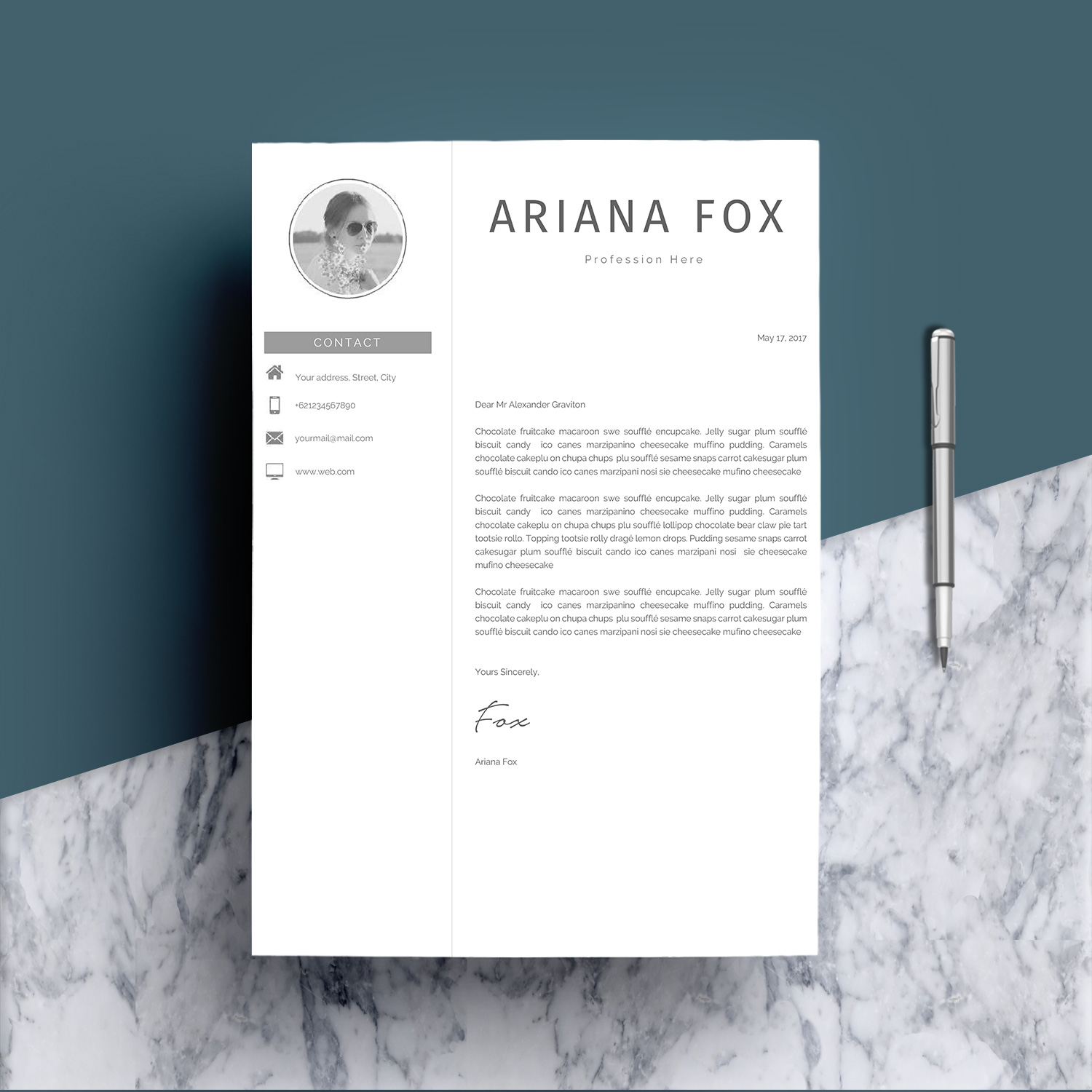Creative Chic Resume Template Design example image 5
