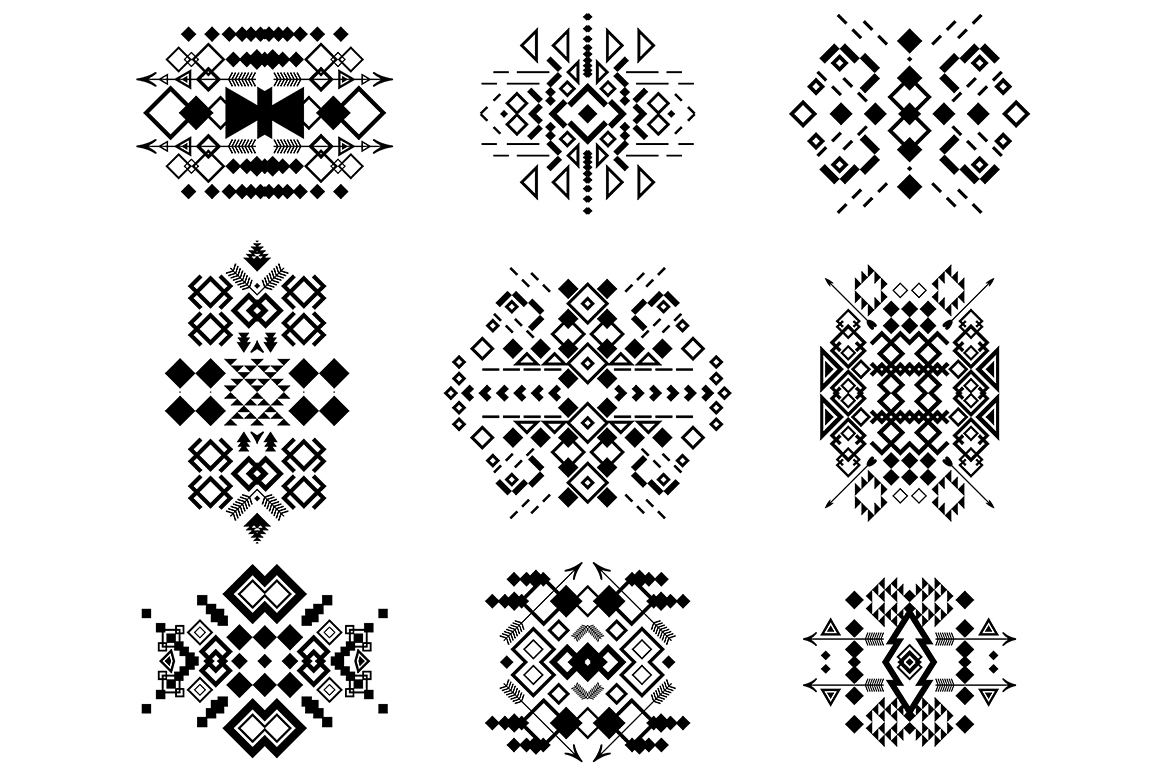55 Tribal Design Elements Collection example image 2