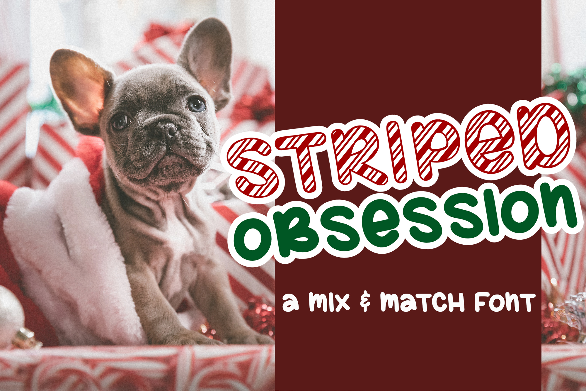 Striped Obsession - A Mix & Match Font example image 1