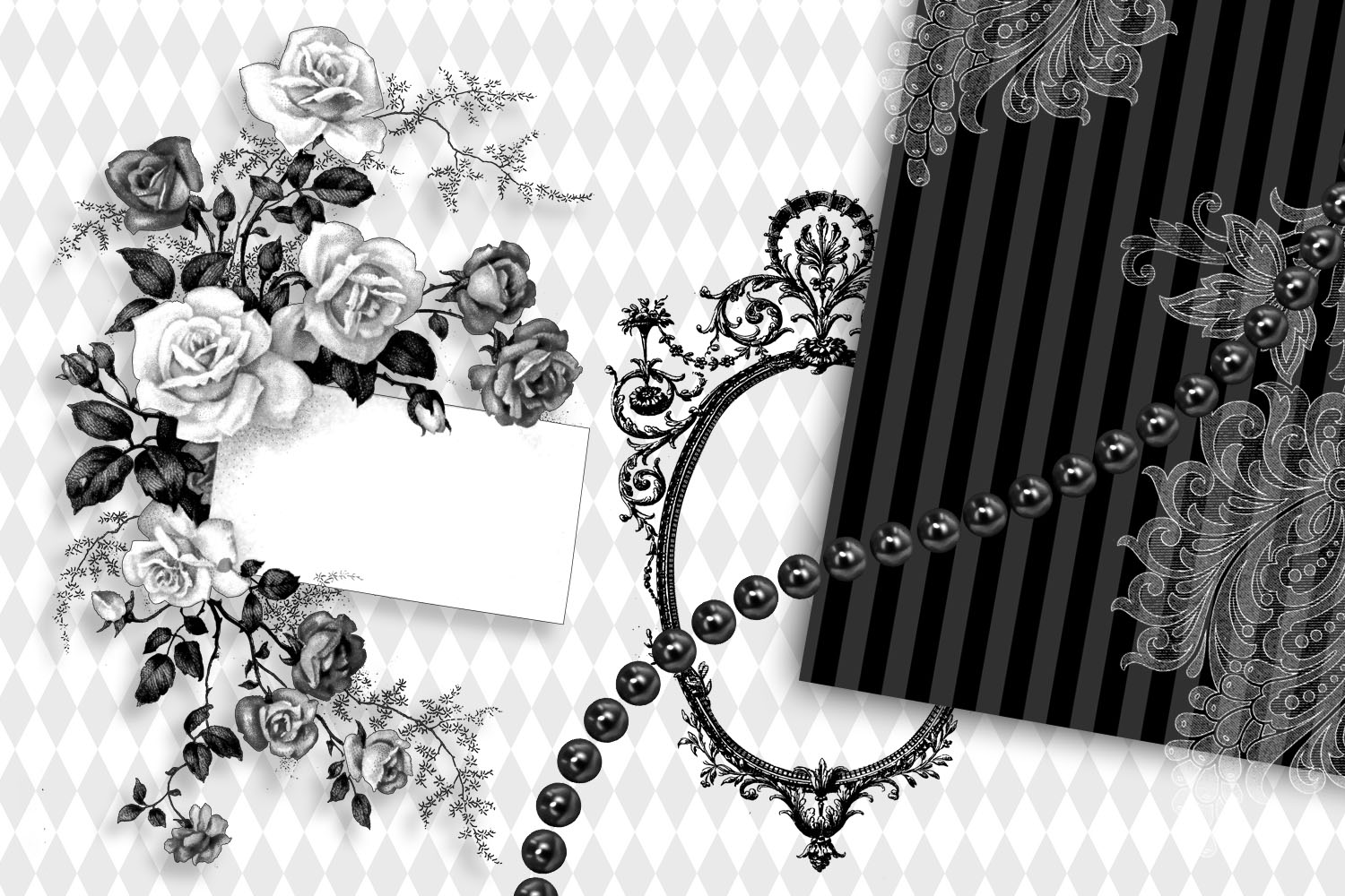 Black and White Alice in Wonderland Graphics example image 3