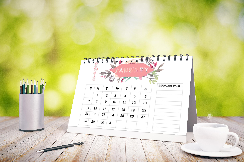 2018 Desk Calendar example image 2