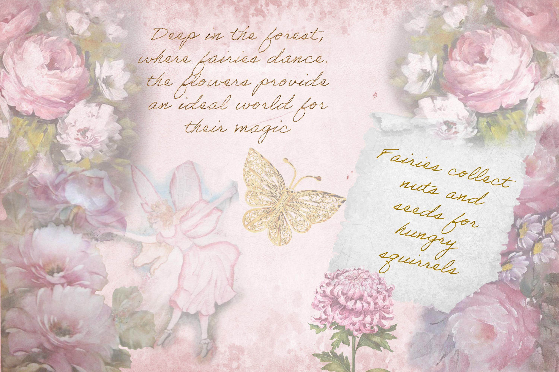 Printable Fairy Journaling Kit, Free Ephemera and PNGs example image 2