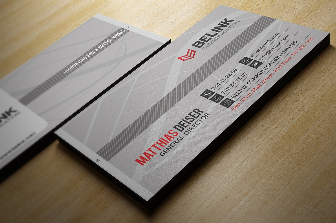 Simple Grey Business Card example image 2