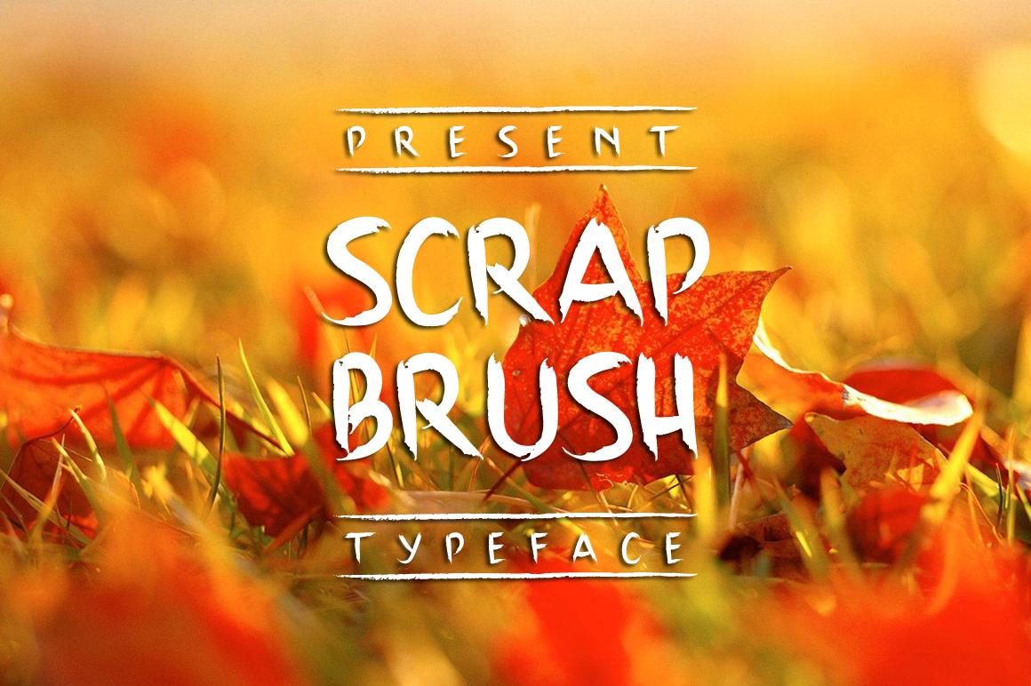 Scrap Brush Typeface example image 1