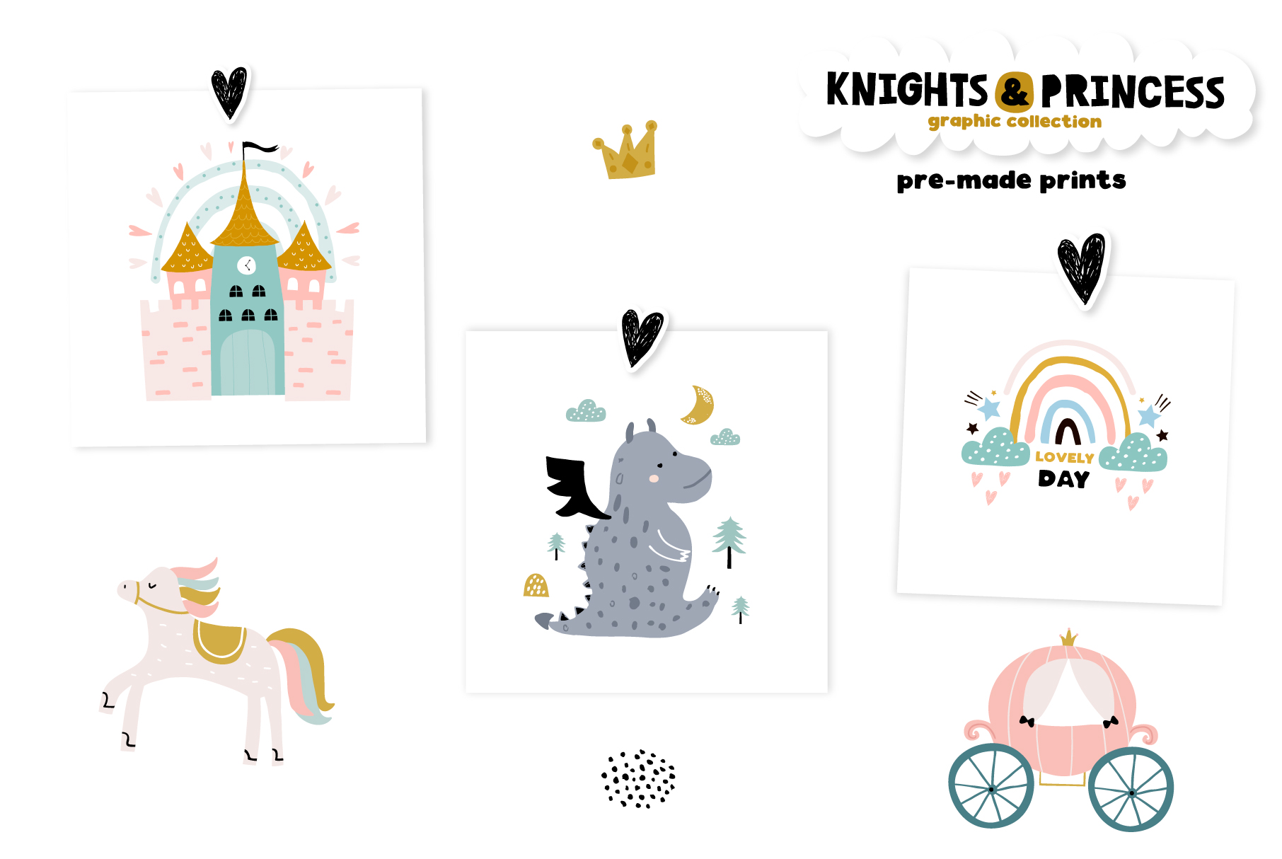 Knights & Princess graphic set example image 8
