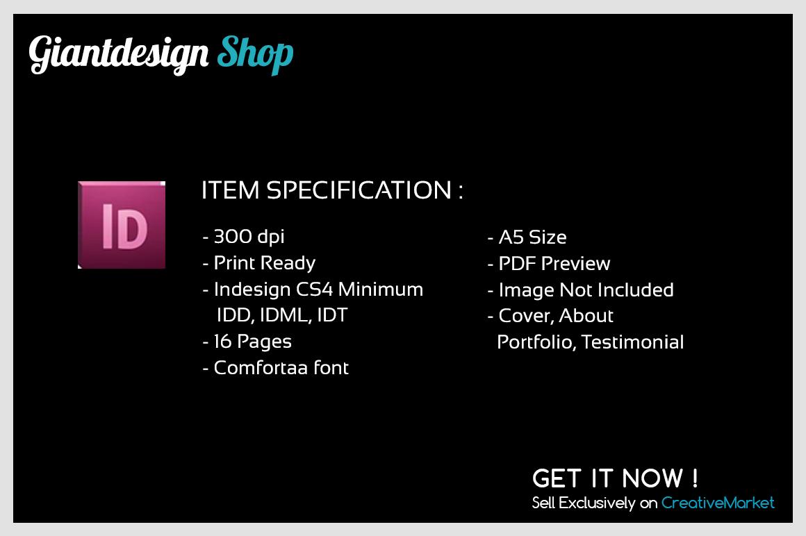 A5 Interior Design Brochure Catalog example image 2