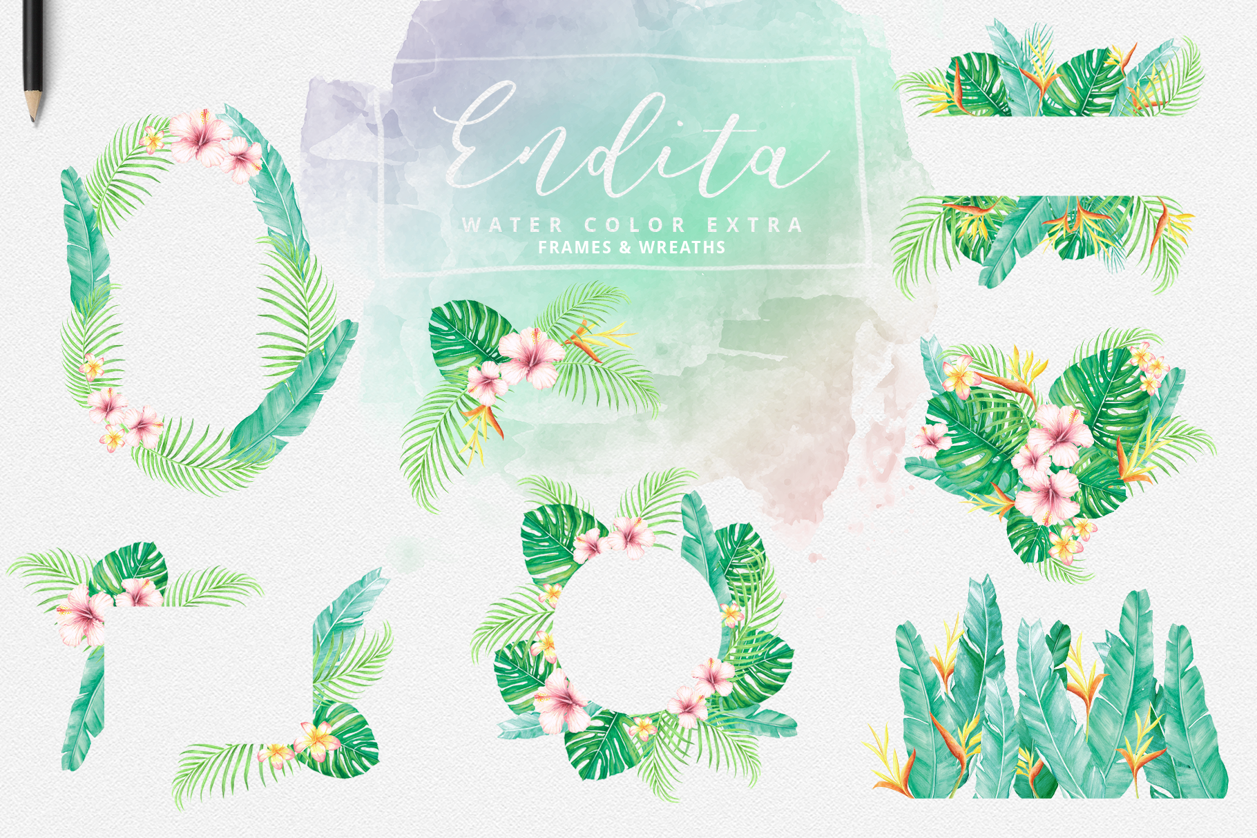 Endita Handwritten Font and Extras example image 11