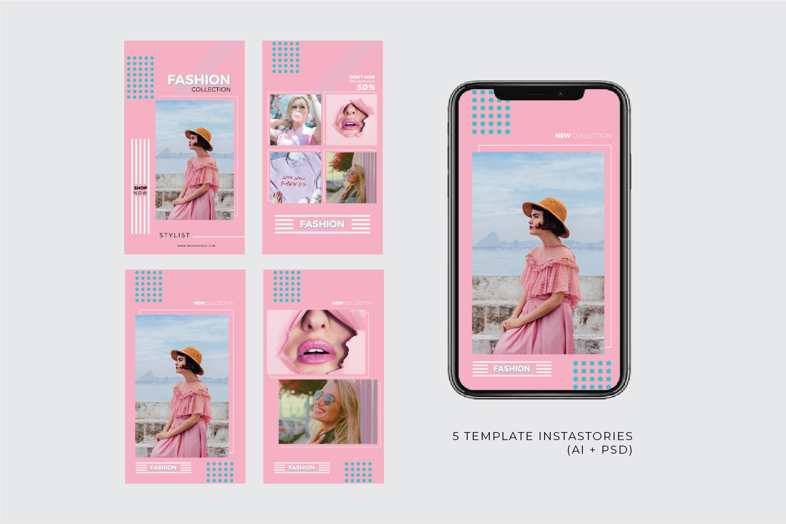 Fashion Template - 2 Poster & 5 InstaStories example image 2