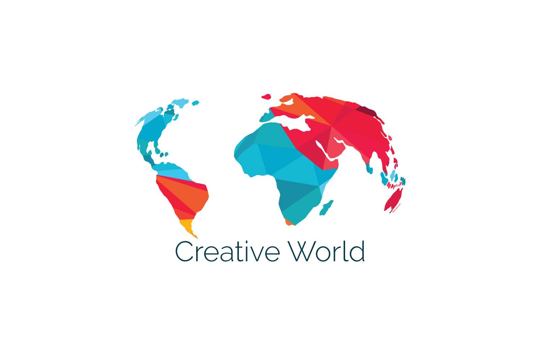 Creative World Map Vector Design. example image 1