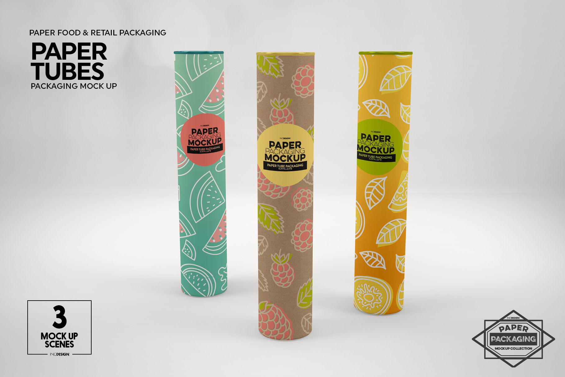 Paper Tube Packaging Mockup example image 2