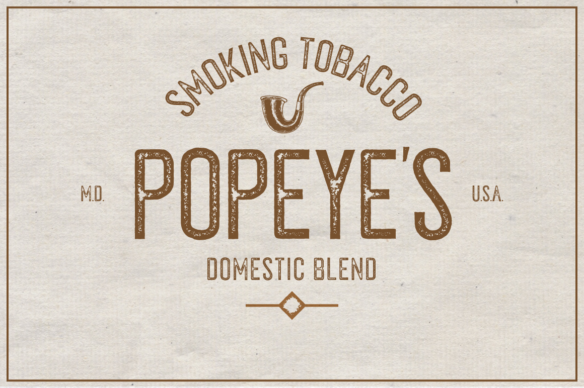 Tobacco Typeface example image 2
