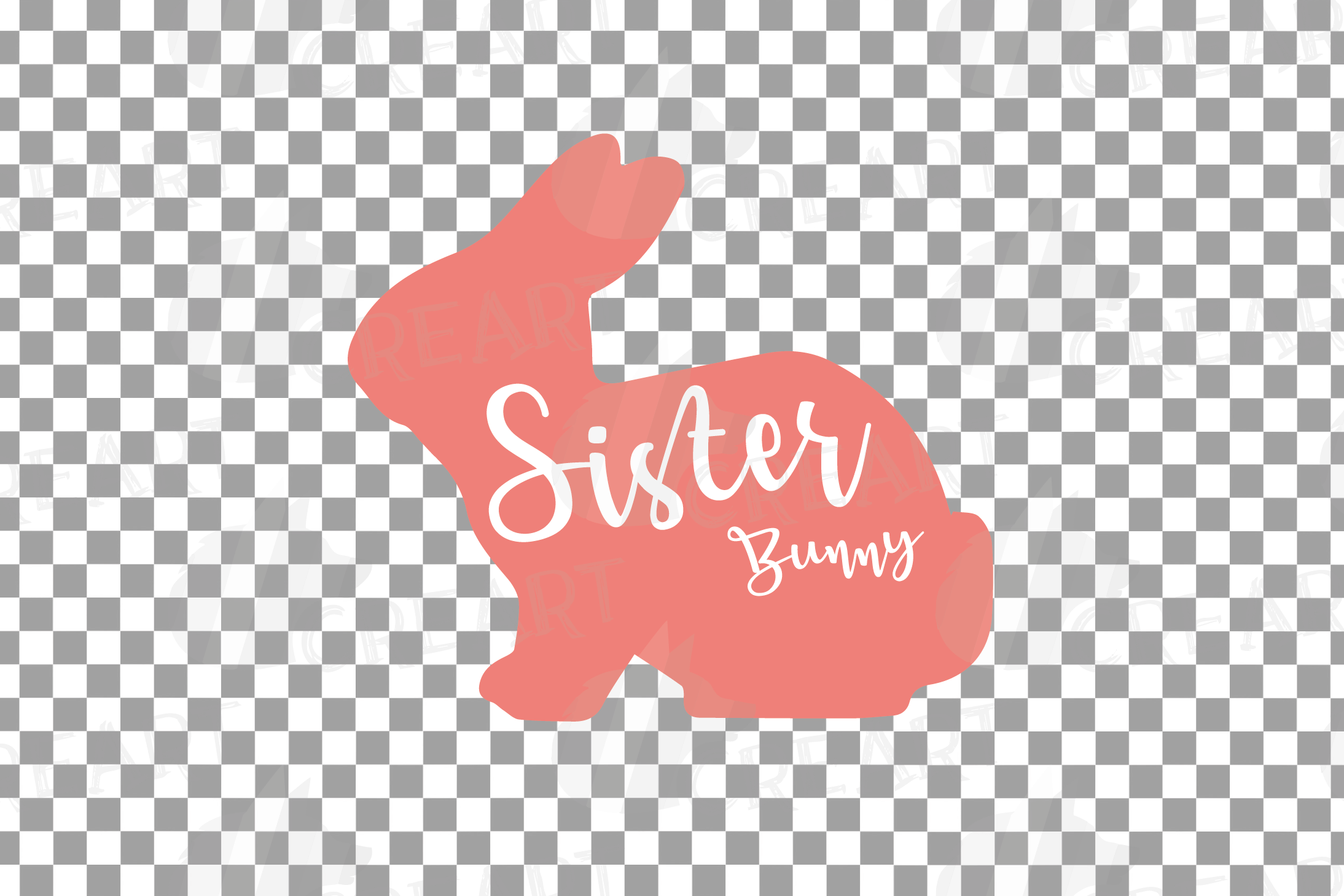Rabbit family silhouettes, bunny silhouette svg cutting file example image 7
