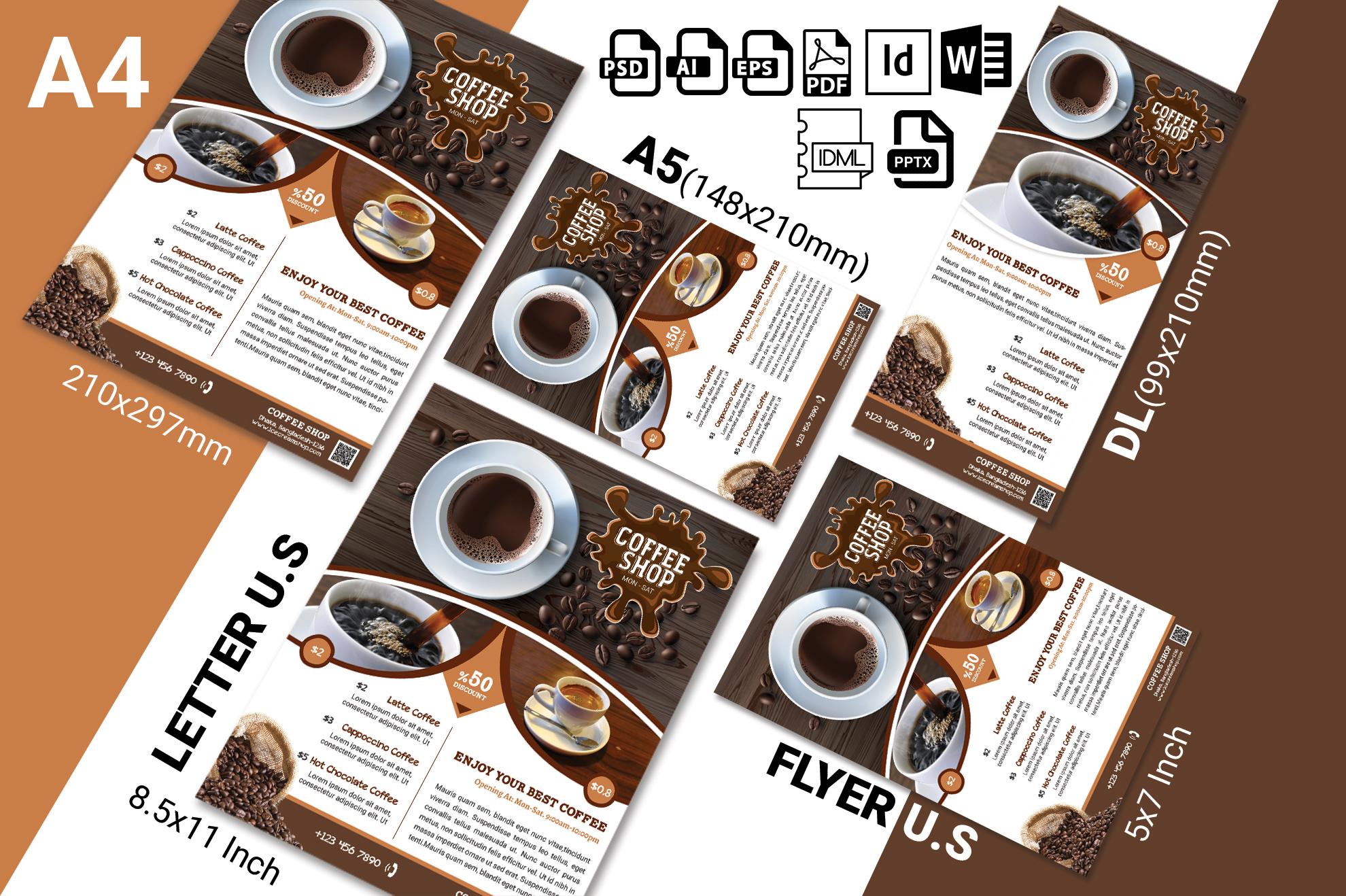 Coffee Shop Flyer Vol-01 example image 2