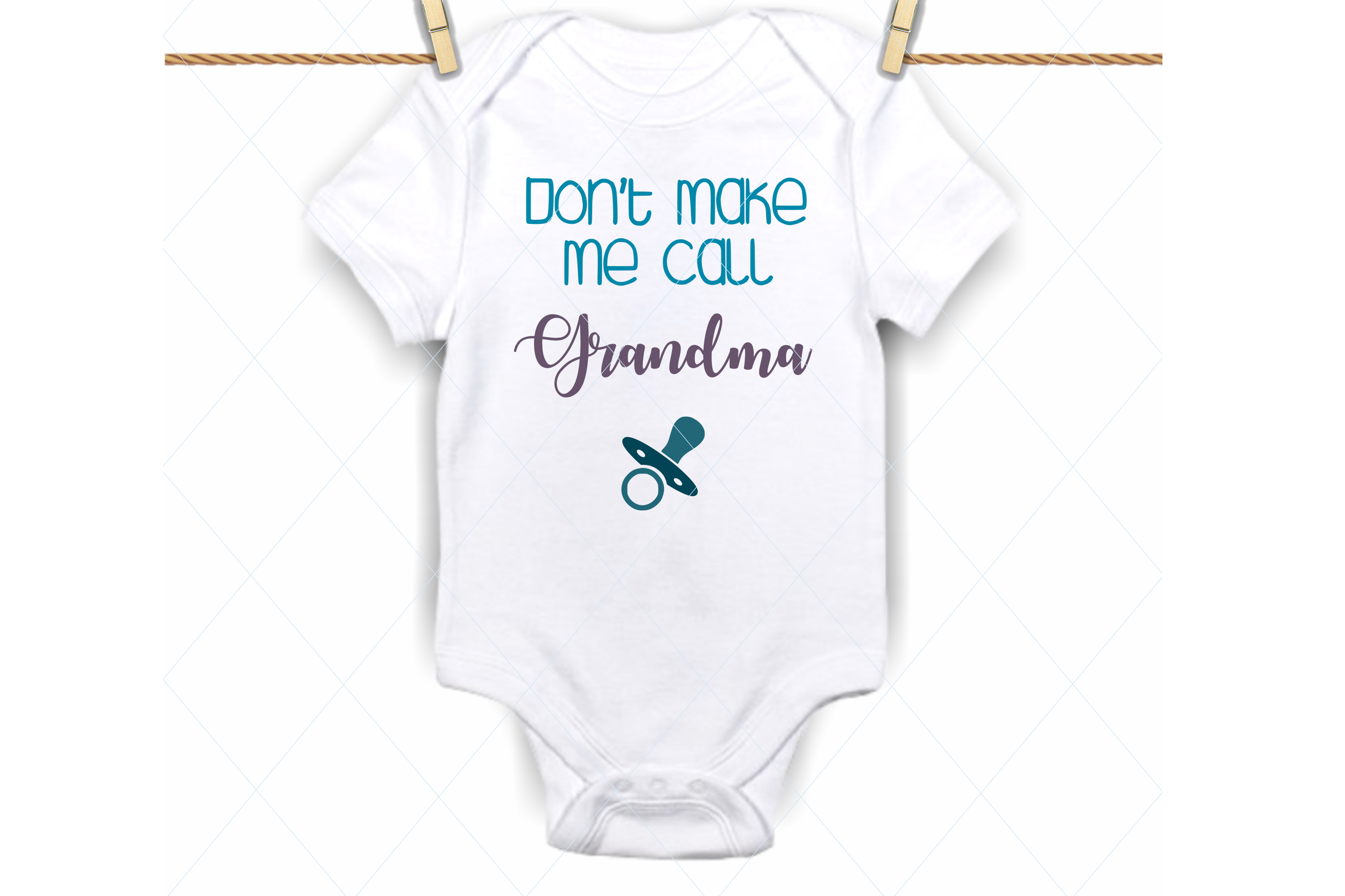 Dont make me call grandma svg, onesie svg file, spoiled baby example image 1