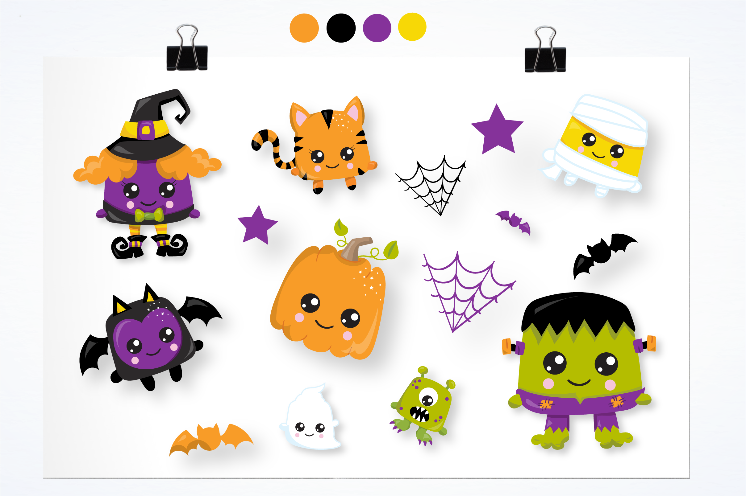 halloween creatures graphics and illustrations example image 3
