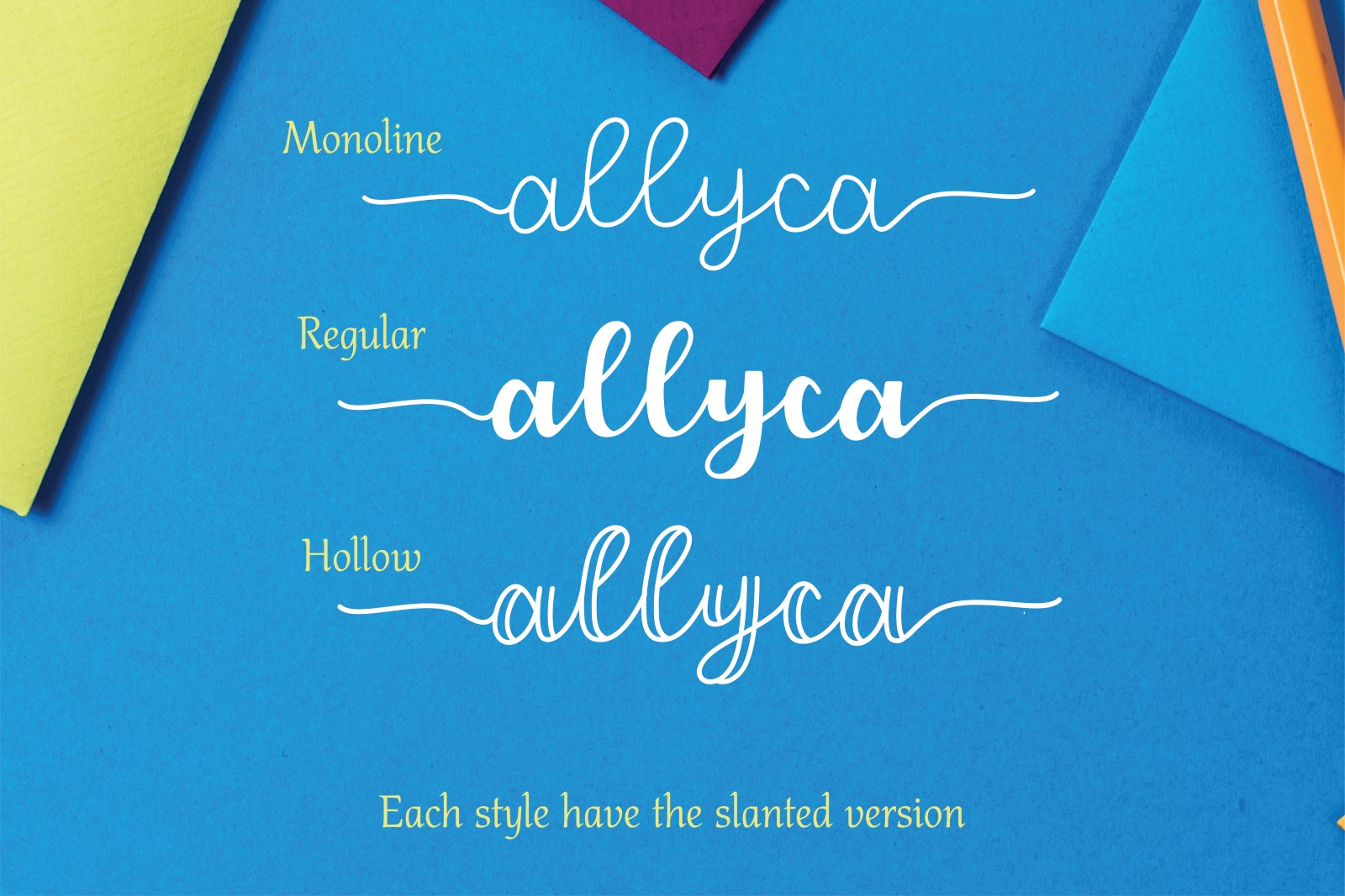 Allyca - Font Family example image 5