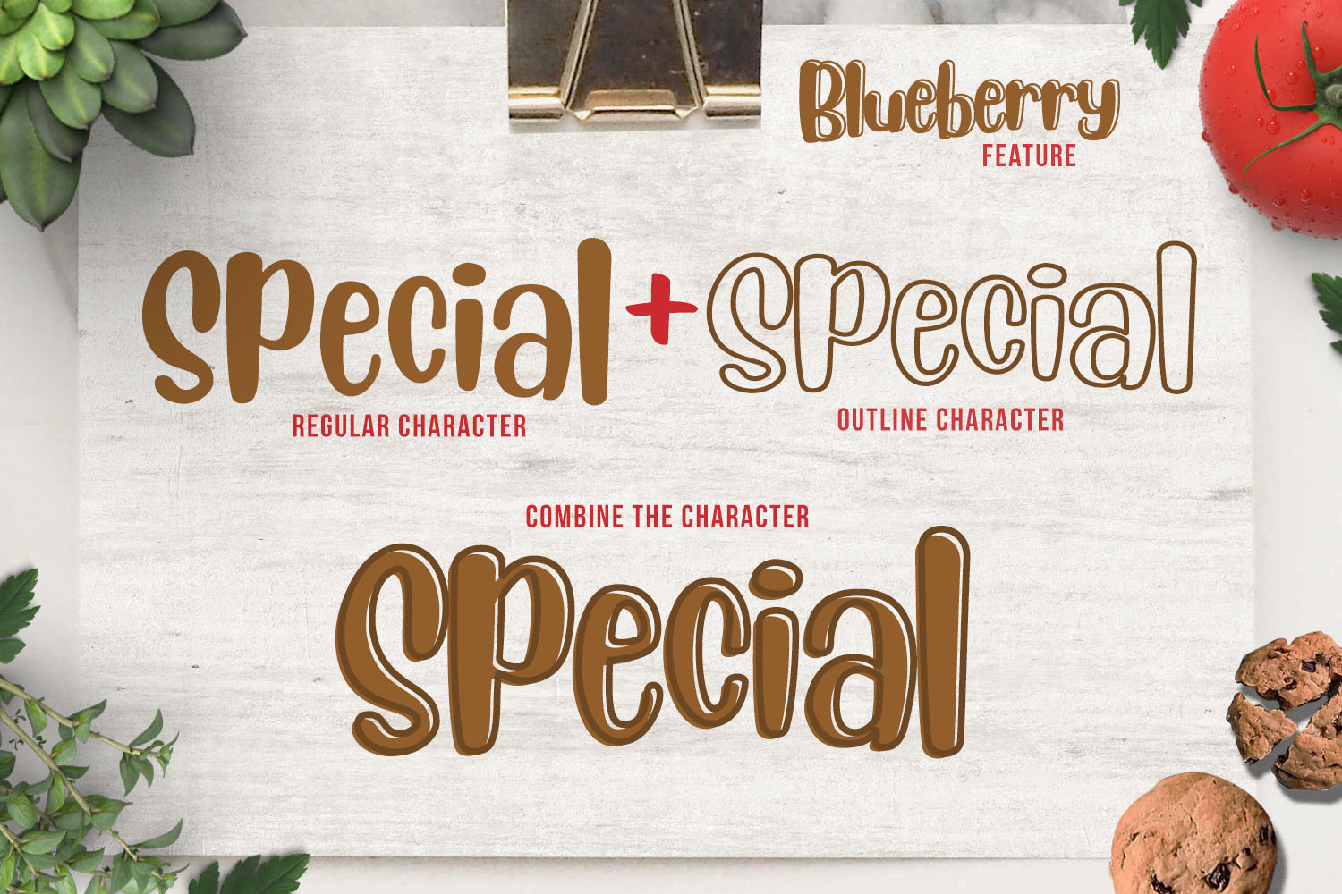 Blueberry - Layered Font example image 8