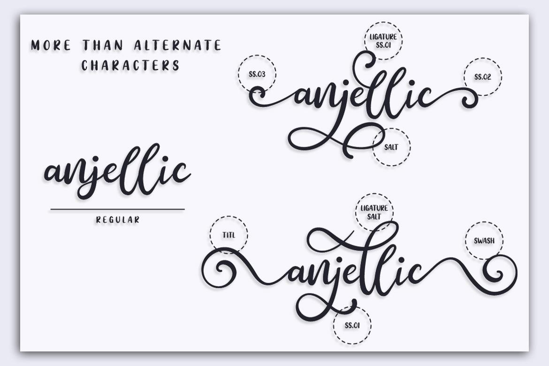 Anjellic // Font Duo & Extras example image 2