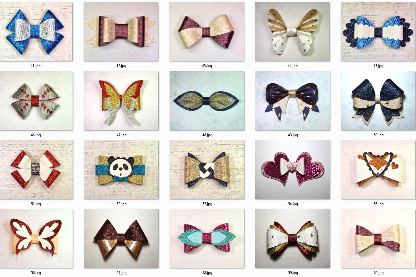 Hair bows template SVG bundle, 100 bows SVG huge bundle example image 7