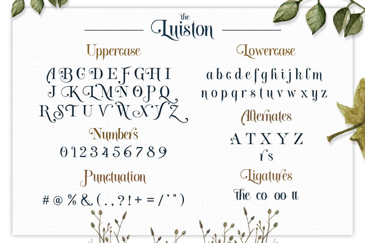 The Luiston San Serif example image 10