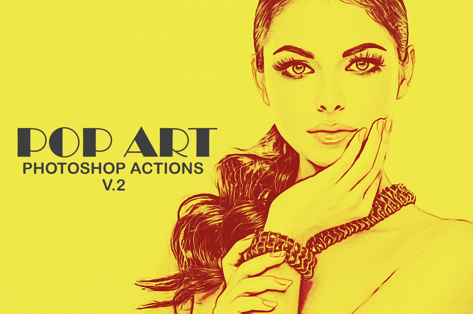 20 Pop Art Photoshop Actions Ver. 2 example image 1