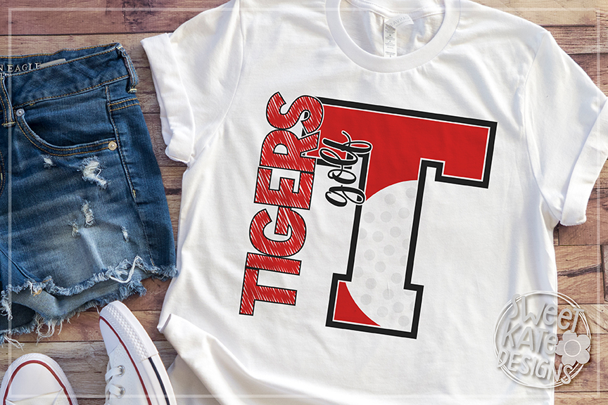 T Tigers Golf SVG DXF EPS PNG JPG example image 5
