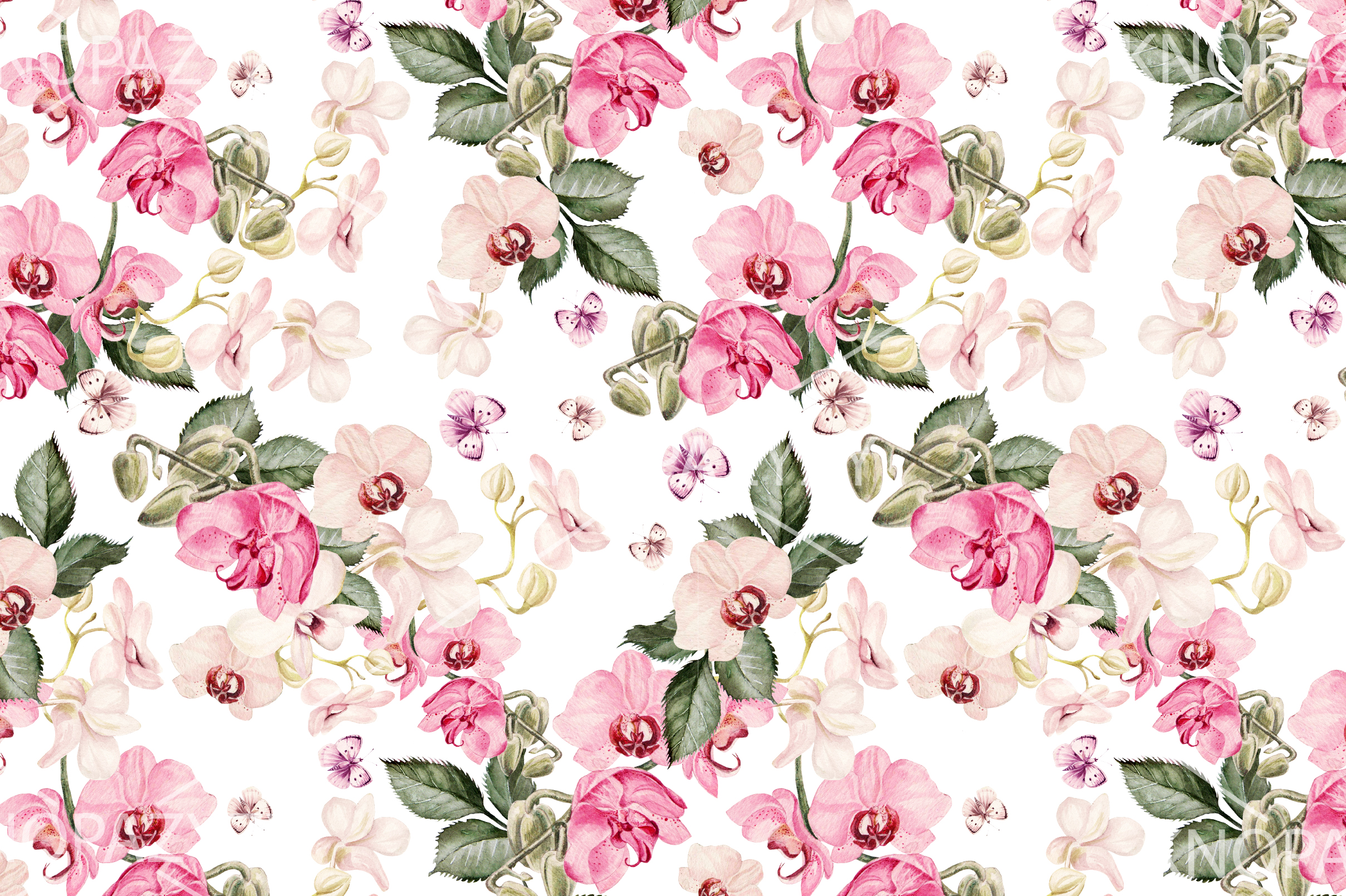 10 Hand Drawn Watercolor Pattern example image 2