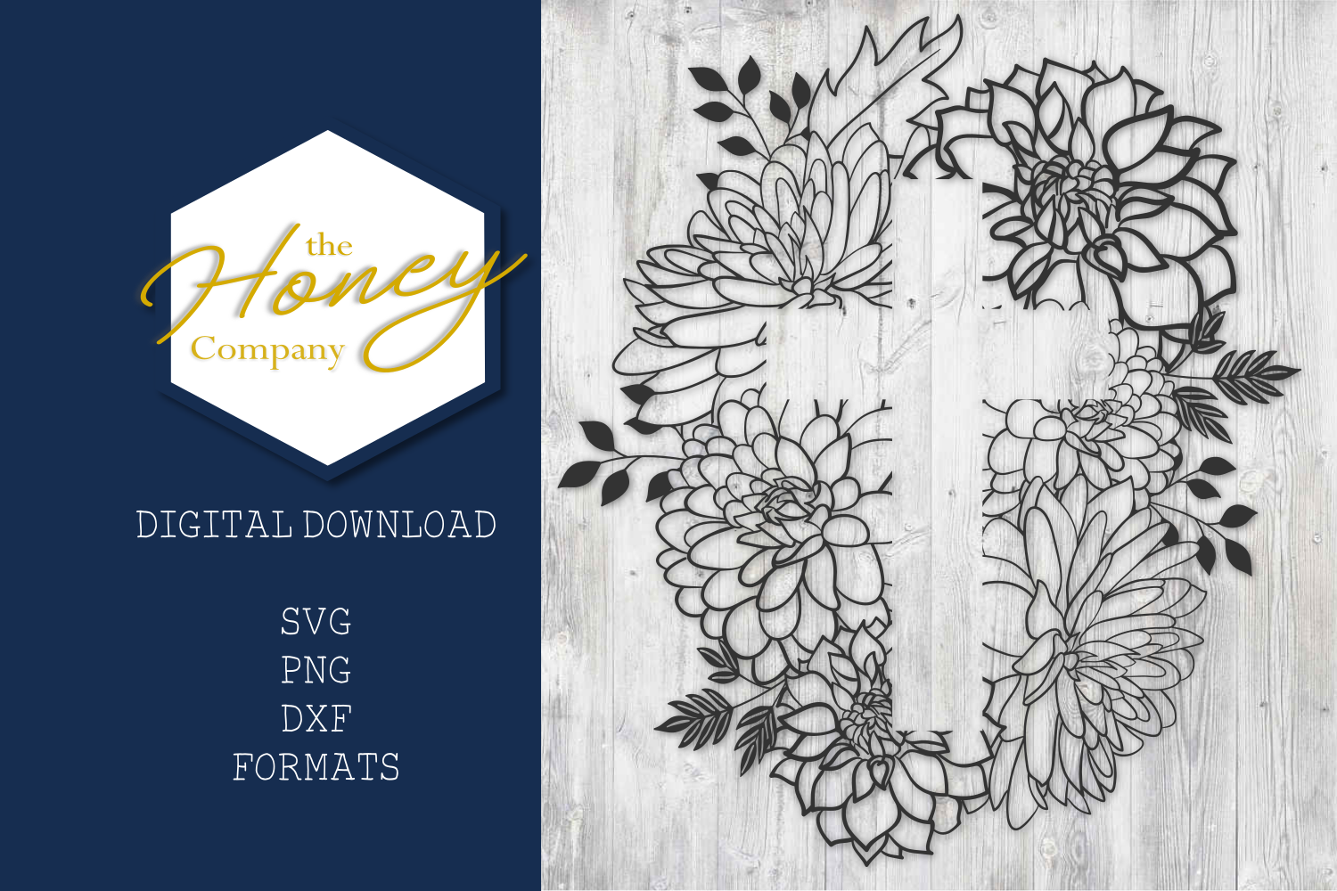 Floral Easter Cross SVG PNG DXF Cut File Vector Clipart example image 2
