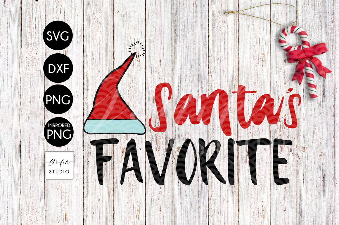 Santa's Favorite CHRISTMAS SVG File, DXF file, PNG file example image 2