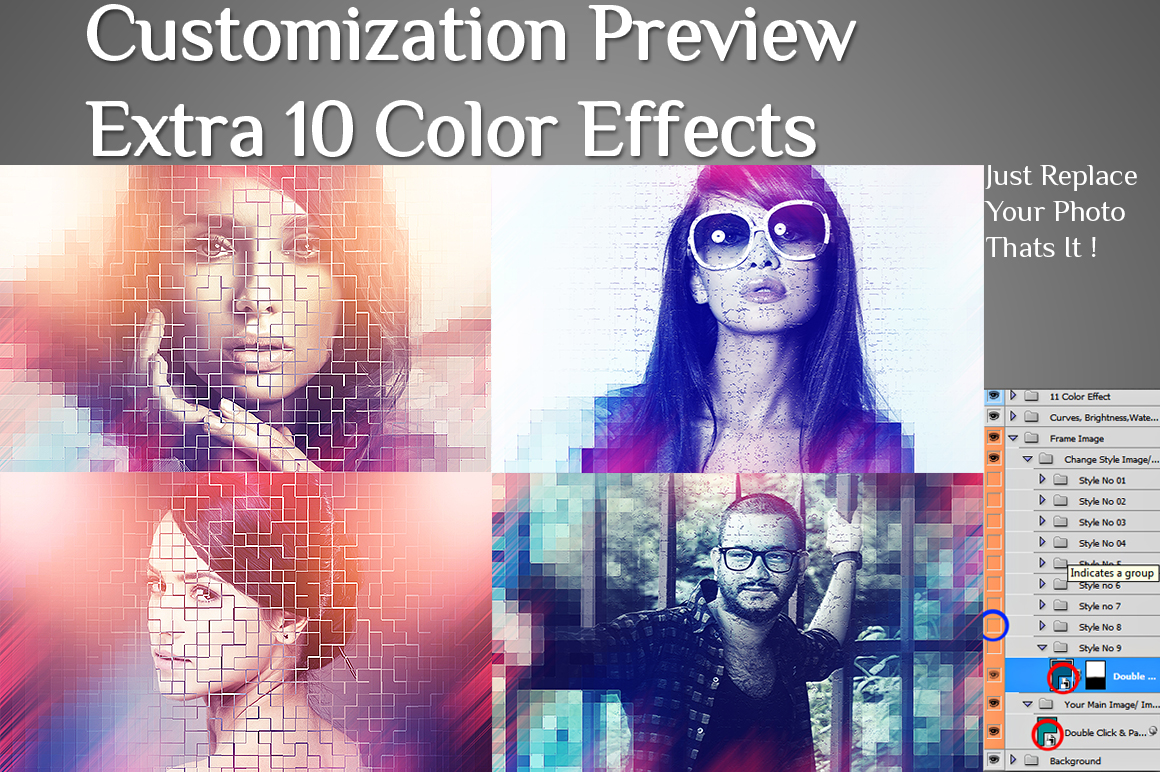 2 Different Artistic With 10 Color Effect Photo Manipulation example image 4