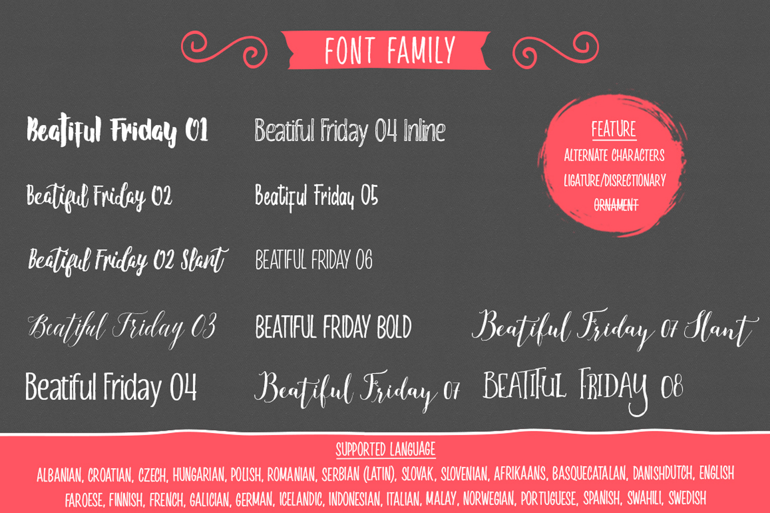 Beautiful friday (13 Fonts) example image 3