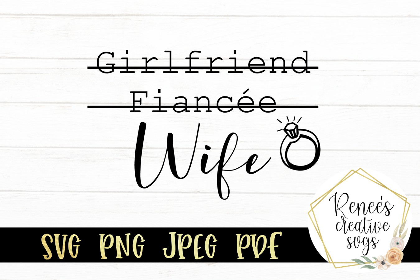 Girlfriend, Fiancee, Wife |Funny Saying | SVG Cut File example image 2