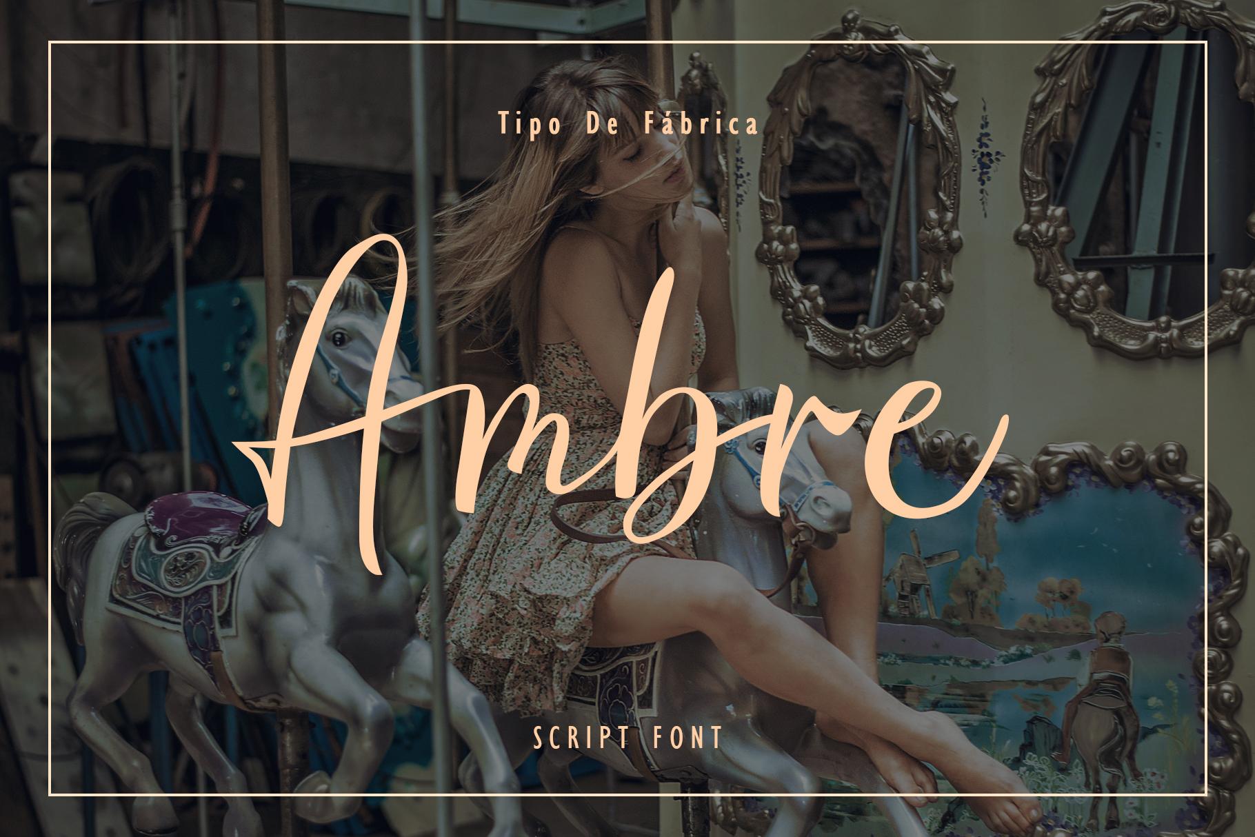 Ambre || Script Font example image 2