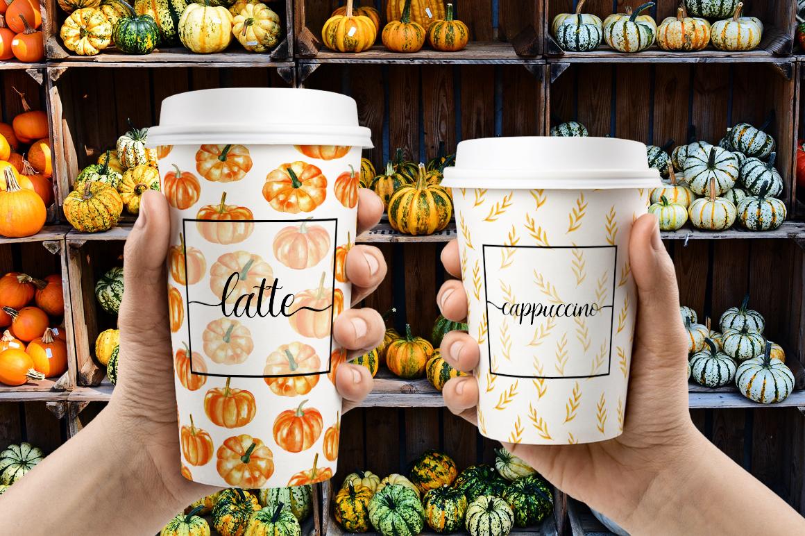 Watercolor pumpkin example image 5