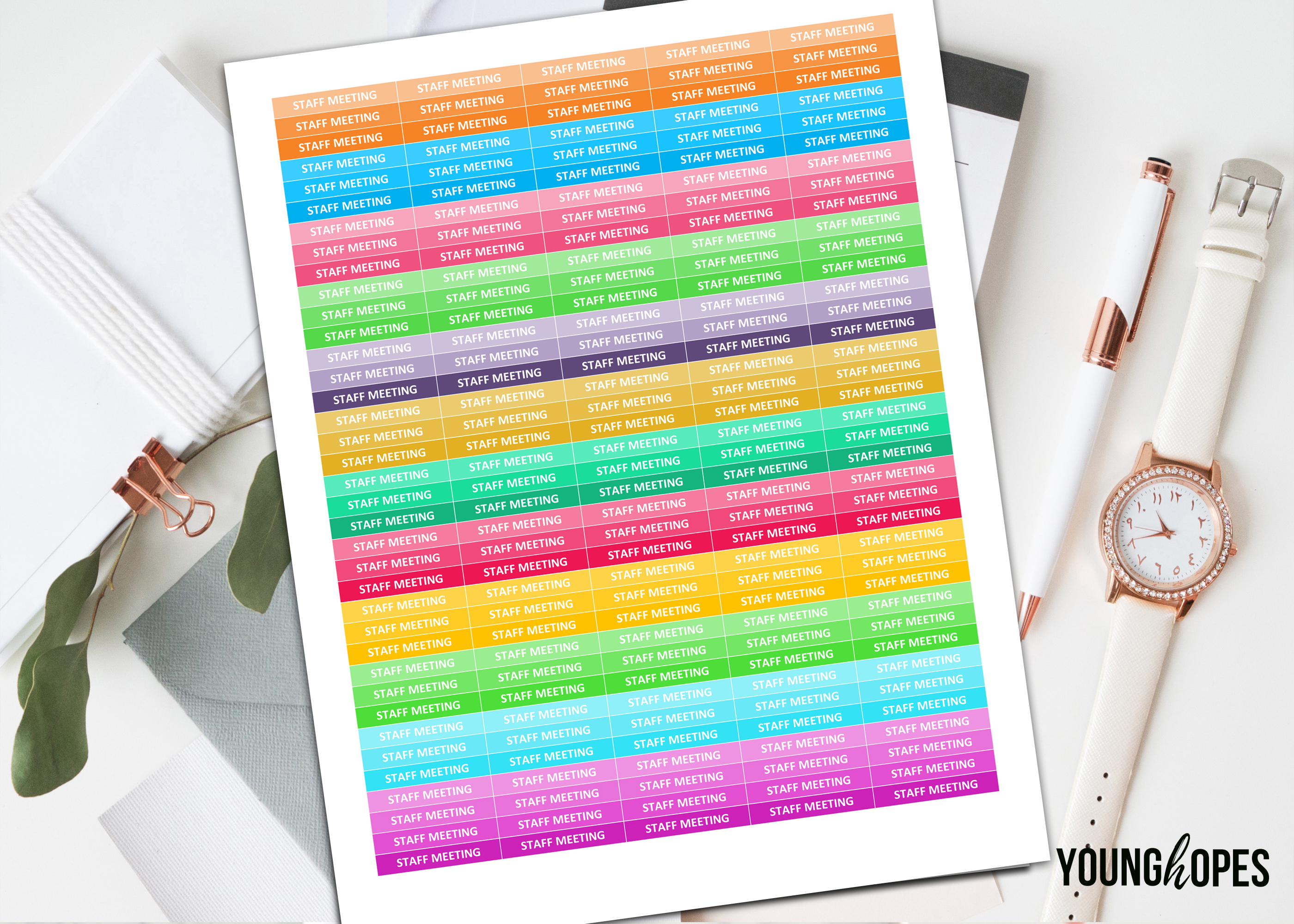 Staff Meeting Planner Stickers-Teacher Planner Stickers example image 1