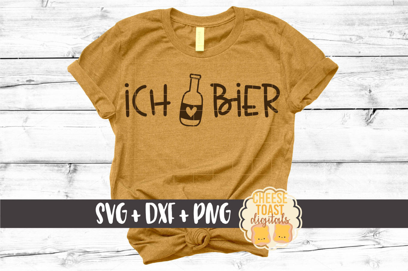 Ich Liebe Bier - Oktoberfest Beer SVG PNG DXF Cut Files example image 1