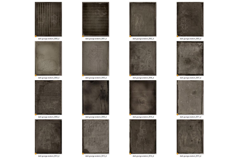 Dark Grunge Anatomy Notebook Paper example image 4