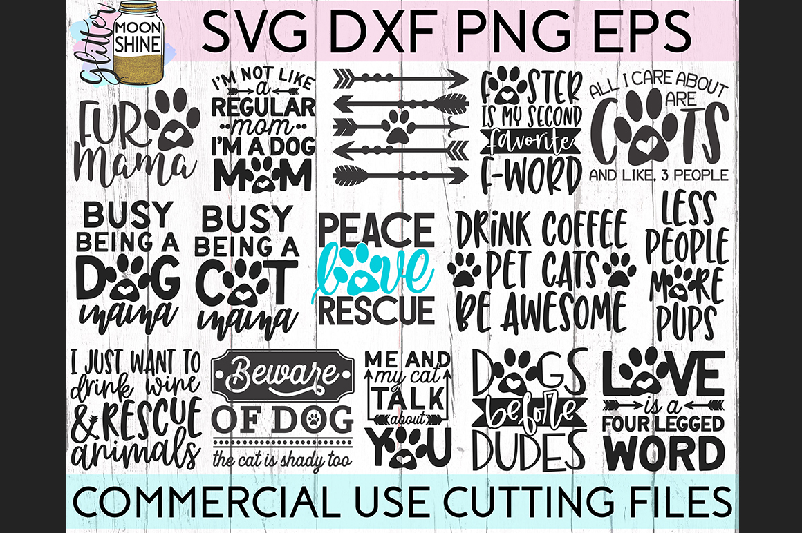 Giant Pet Mom Bundle of 68 SVG DXF PNG EPS Cutting Files example image 2