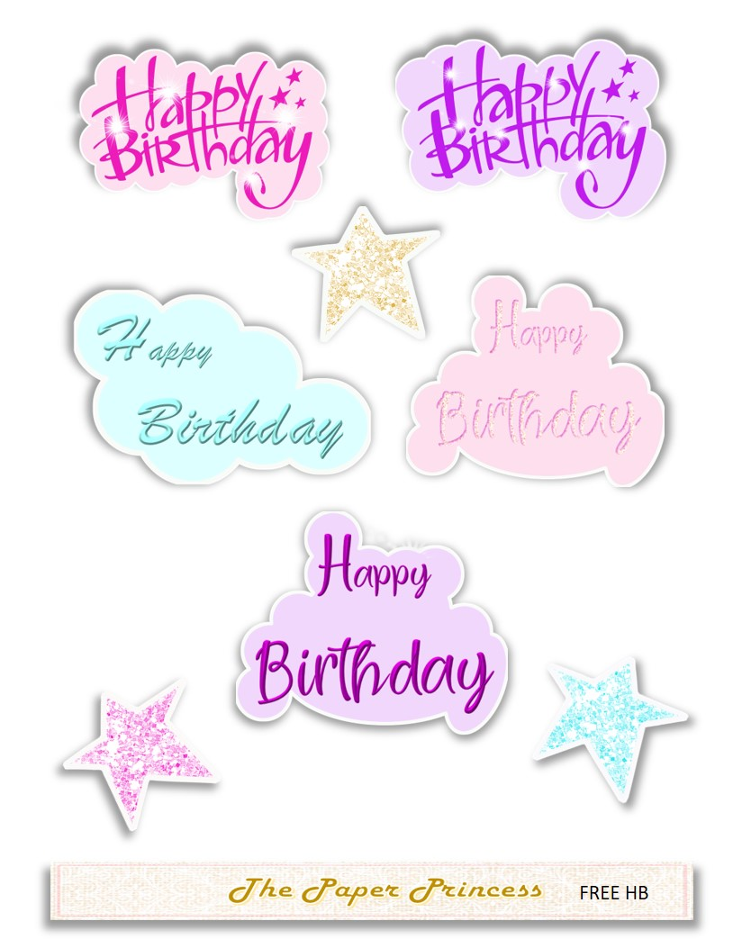 Happy birthday stickers svg and png example image 2